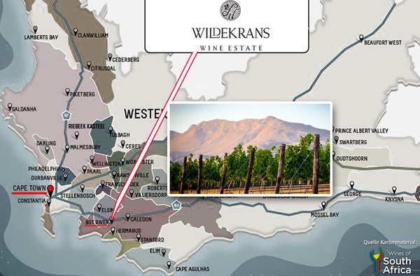 Wildekrans Wine Estate - Bot River  Karte